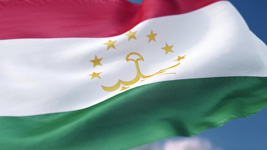 Flag Tajikistan TJ 4k loop | Shutterstock HD Video #1044331276