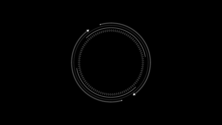 PNG Alpha. HUD looping 10 sec circle with arrows. Technological fururistic HUD template.User Interface Loading arrow around the circle.Circle logo template.HUD around logo. Type 1   Shutterstock HD Video #1044574870