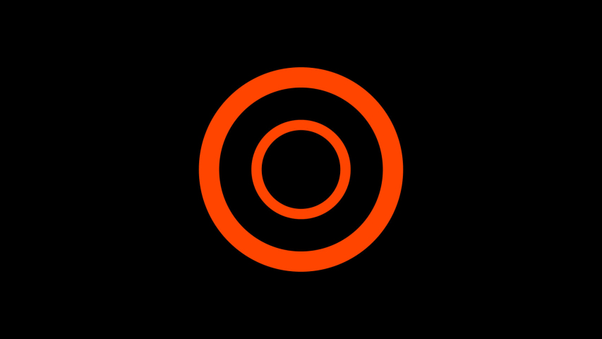 Minimal Flat Decoration Accent Motion Graphic - Fast Orange Rings | Shutterstock HD Video #1044611773