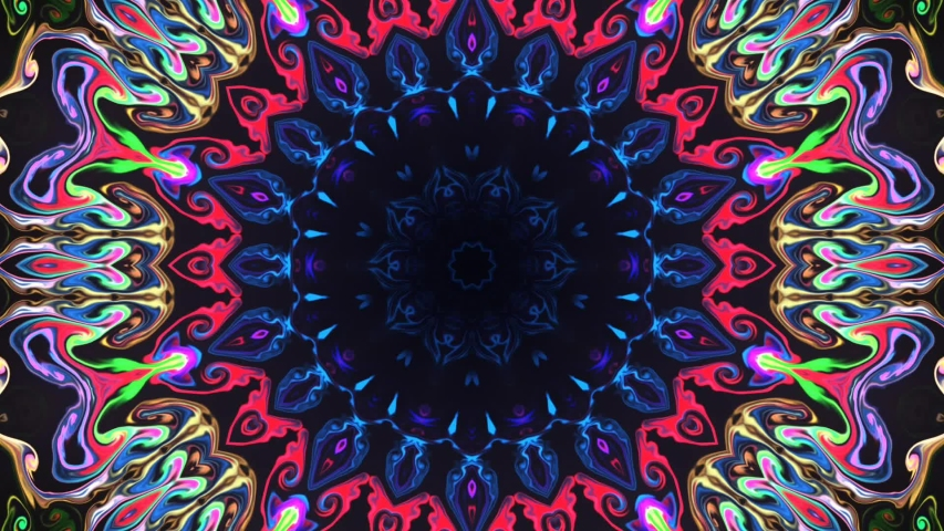 Abstract HD multicolor kaleidoscope background. Beautiful multicolor kaleidoscope texture | Shutterstock HD Video #1044632512