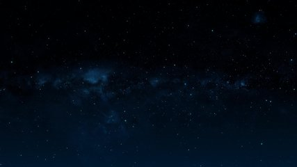 Flying Through The Stars And Blue Nebula In Space. Looped Video. Space Background.