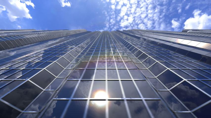 Video of beautiful skyscrapers loop   Shutterstock HD Video #1044732256