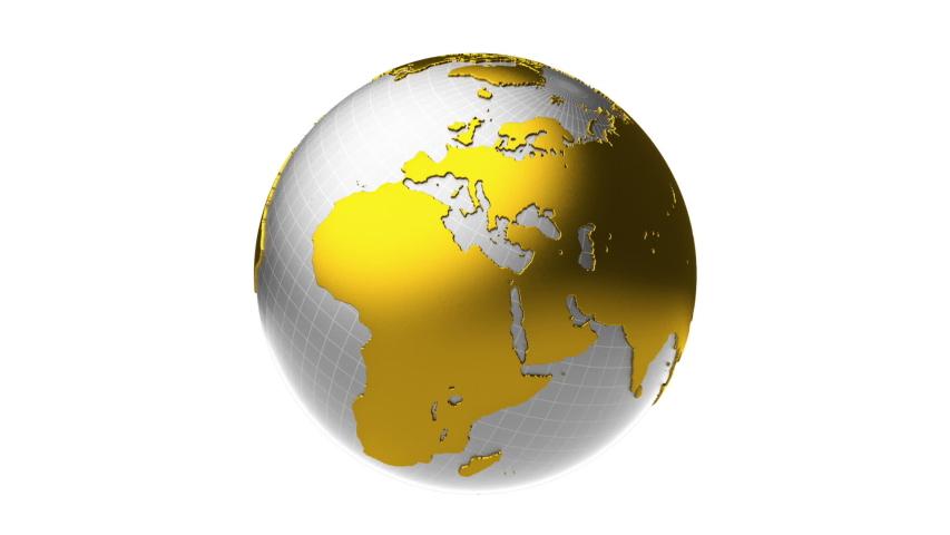 Golden silver earth rotation loop   Shutterstock HD Video #1044806620