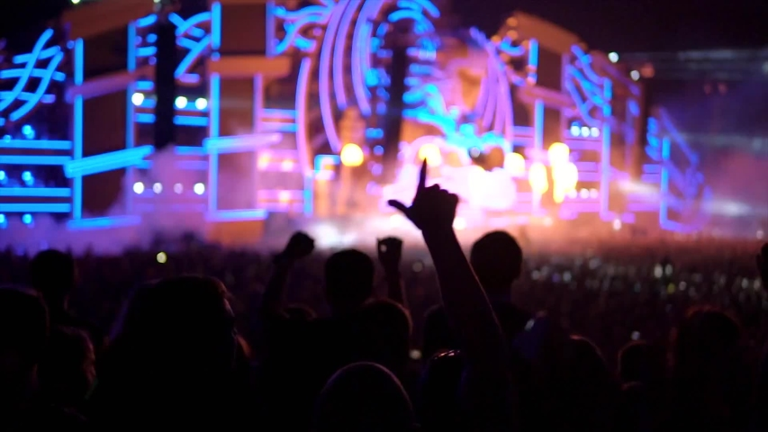 Video of disco concert crowd | Shutterstock HD Video #1044809041