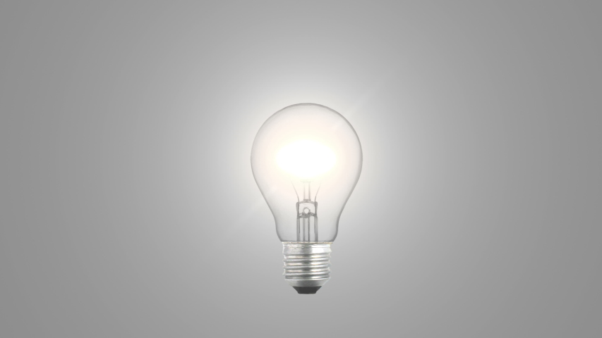 Light bulb turning on and turning off | Shutterstock HD Video #1044810790