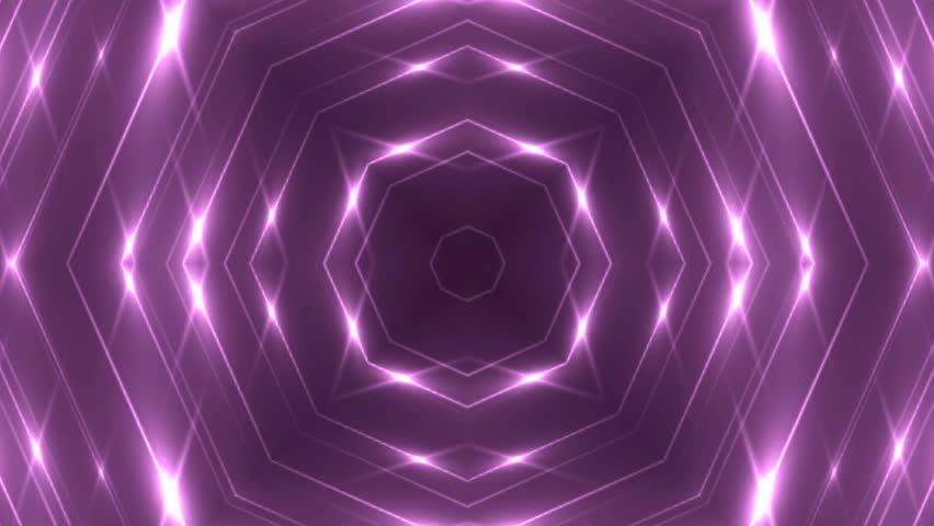 Fractal pink kaleidoscopic background. Background motion with fractal design. Disco spectrum lights concert spot bulb. More sets footage in my portfolio. #10450730