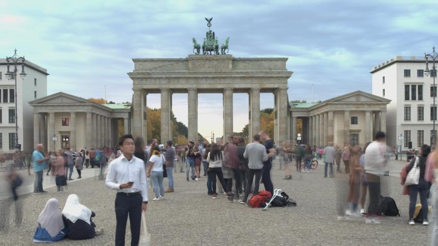 Berlin Brandenburger Gate Hyperlapse Timelapse Brandenburger Tor
