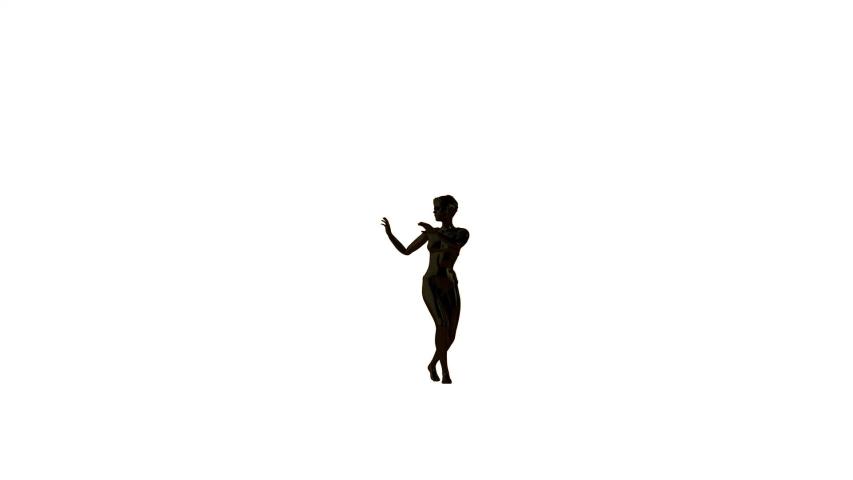 Black woman doing a samba dance, against white   Shutterstock HD Video #1045153039