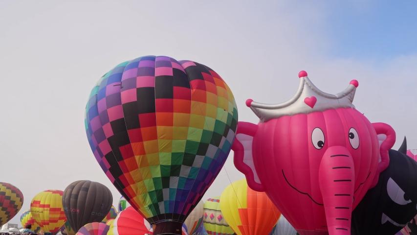 Albquerque, OCT 4: Morning view of the famous Albuquerque International Balloon Fiesta event on OCT 4, 2019 at Albquerque, New Mexico