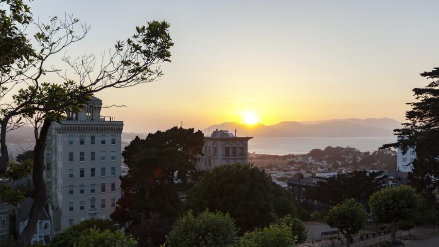 Sunset Time Lapse Of The Golden Gate Bridge, San Francisco