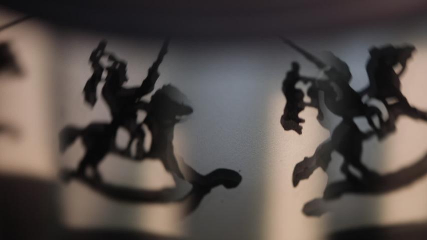 Vintage praxinoscope toy soldier animation