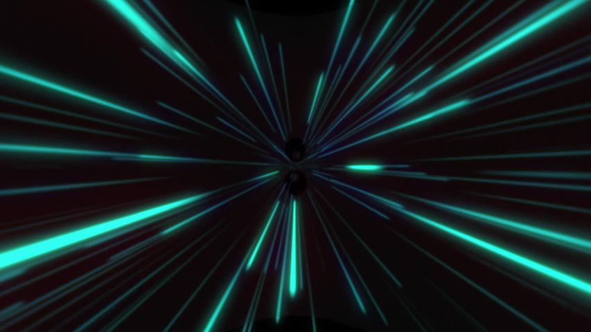 Blue light streaks. Speed infinite lines light neon blue virtual animation. Abstract motion background. | Shutterstock HD Video #1045325380