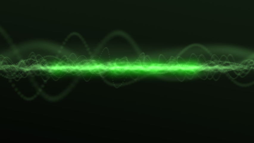 Wave oscillator. Oscilloscope The ripple effect. Electromagnetic waves pass through space.  Royalty-Free Stock Footage #1045394233
