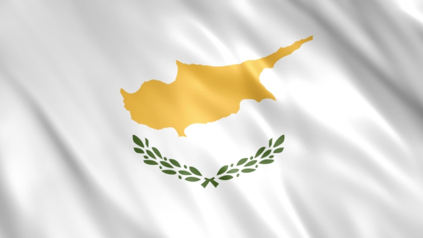 Cyprus Flag Loop Animation  Extend the duration as per the need  Full HD, 1920x1080 Pixels