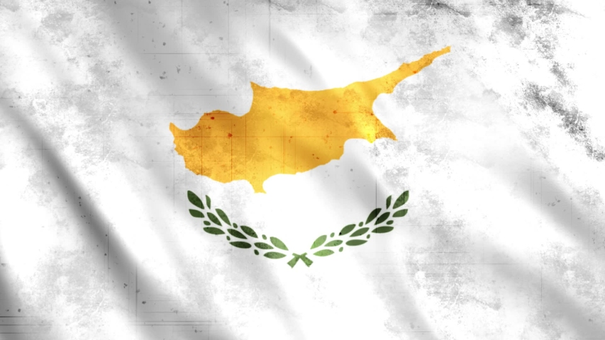 Grunge Cyprus Flag Loop Animation  Extend the duration as per the need  Full HD, 1920x1080 Pixels