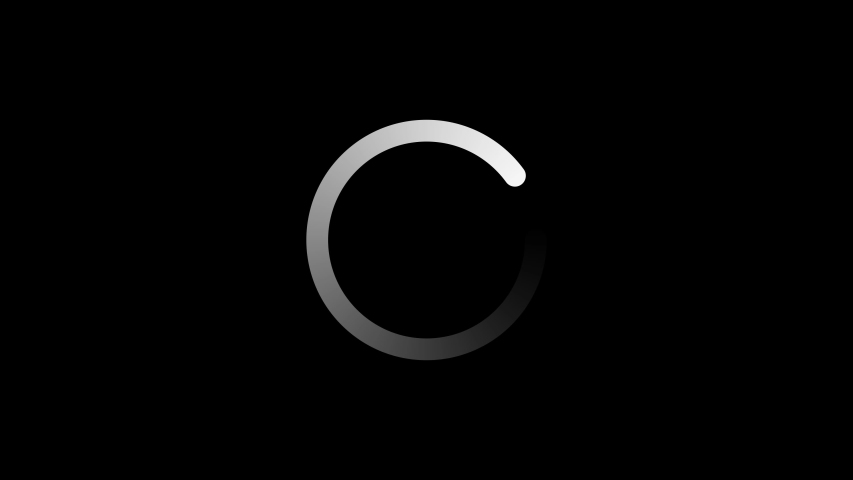 Circle Loading icon loop out animation with dark background.