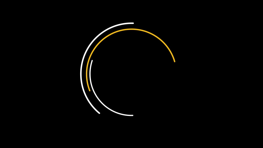 Circle animation shape elements pack with a black background. | Shutterstock HD Video #1045465858