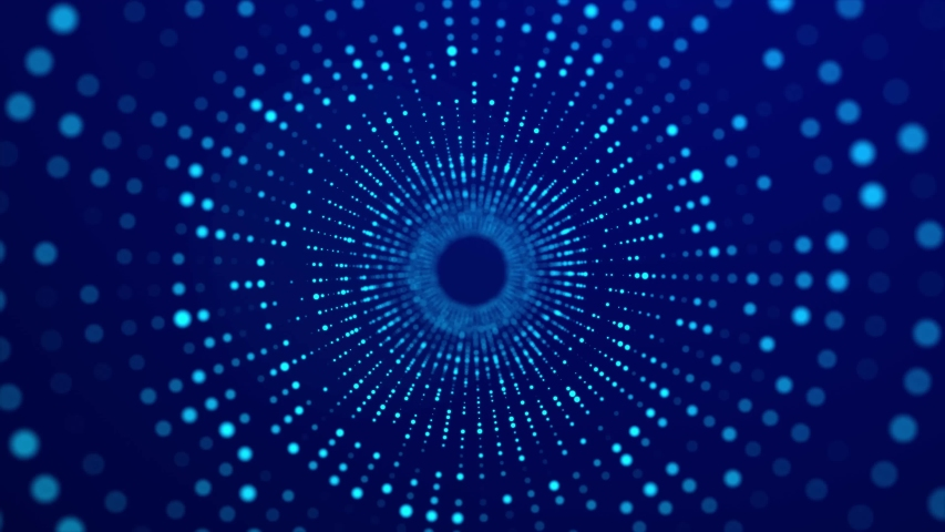 Abstract blue 3d portal. Futuristic digital tunnel. 3d rendering. | Shutterstock HD Video #1045510162