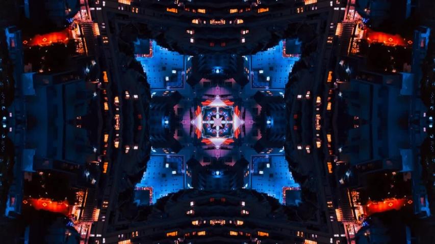 Poly Art Kaleidoscope Fractal Starlish Blue Orange Black Yellow | Shutterstock HD Video #1045672405