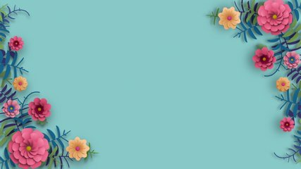 Flower Corner Frame appearing composition. Leaves and flowers grow and bloom. Dynamic and bright pattern. 3D Render. Valentine Day, Mother Day animated template. Abstract Spring or Summer 4K Animation