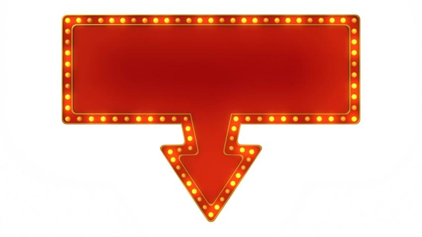 Arrow marquee light board sign retro animation. 3d rendering | Shutterstock HD Video #1045730053