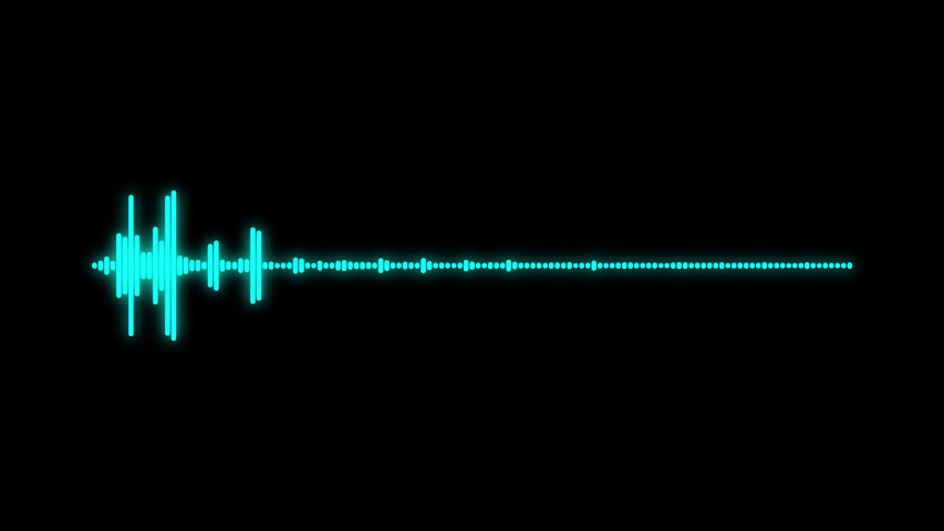 Blue-Green glow  audio spectrum sound wave effect. Alpha channel. Royalty-Free Stock Footage #1045834546