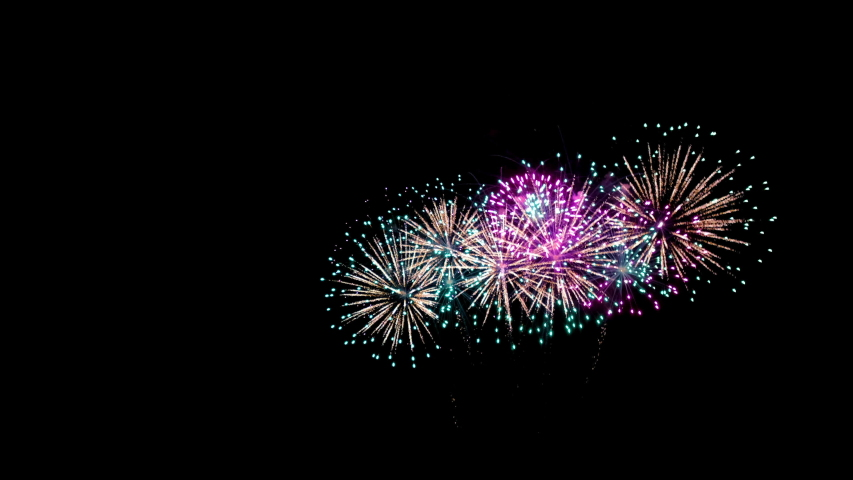 4K, Colorful fireworks on background, abstract fireworks, | Shutterstock HD Video #1045927633