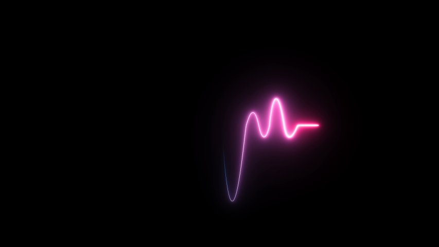 NEON heart beat line symbol design sign amazing cool colorful abstract background neon light heartbeat display screen medical research show sign colorful wave signal