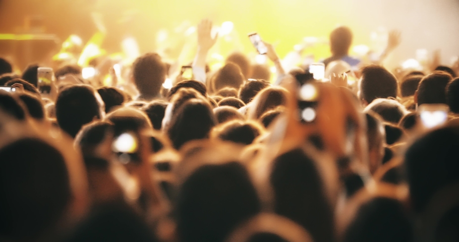 THAT MOMENT 4K hall crowd applause concert stage concert music festival crowd, crowd music crowds entertainment, night outdoor lifestyle festivals 4K Night Rock Concert Crowd Cheering in slow motion | Shutterstock HD Video #1046094310
