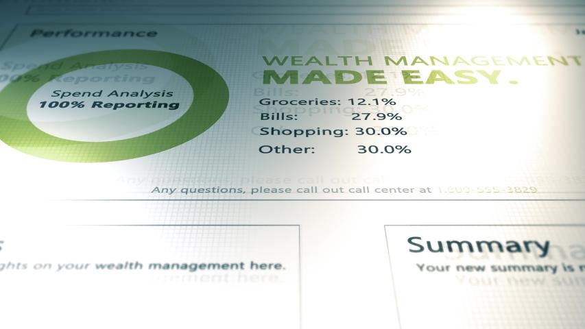 Website Software Application Animation Series - Wealth Management Website V2