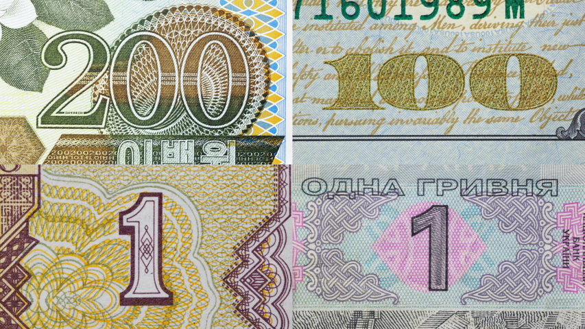 Good set of world Currency. Stop motion animation. Different all world money bill macro view. Digits face value close up. World currency paper cash money. Perfect cash collection. | Shutterstock HD Video #1046202166
