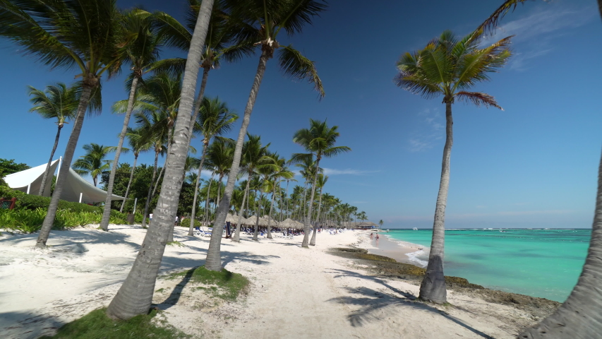 Sandy beach at Punta cana, Dominican republic | Shutterstock HD Video #1046295985