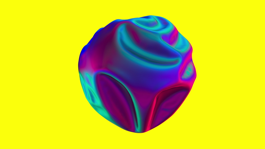 Stylish 3D Abstract Animation Colored Wavy Smooth Ball. Conception Multicolor Liquid Pattern. Purple Blue Wavy Reflect Surface. Trendy Colorful Sphere Move. Beautiful Bright Gradient Ripples Texture | Shutterstock HD Video #1046311480