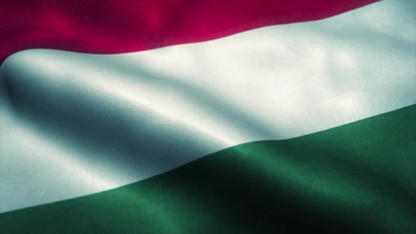 Hungary flag waving in the wind. National flag of Hungary. Sign of Hungary seamless loop animation. 4K | Shutterstock HD Video #1046344867