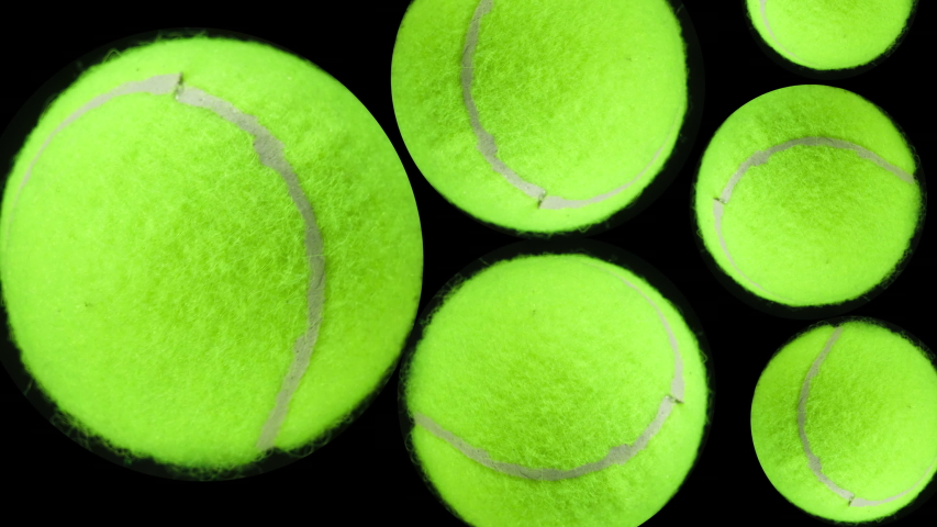Tennis. Ball games and sport. Many spinning tennis balls close up. | Shutterstock HD Video #1046386906