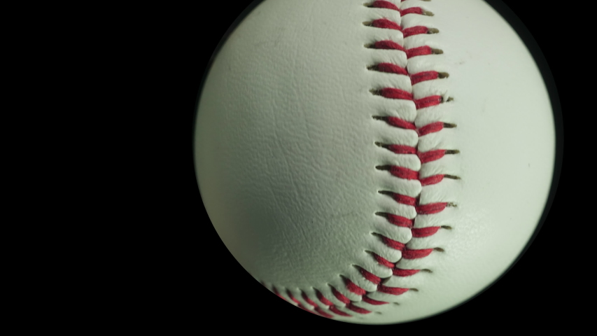 Baseball ball. Ball games and sport. Individual isolated baseballs spinning and tracking forwards towards the camera. Baseball close up. | Shutterstock HD Video #1046386909