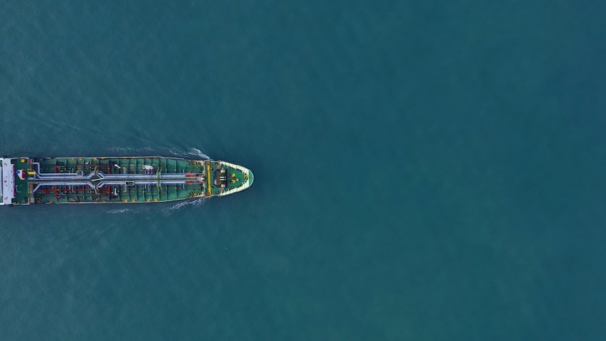 4k. Aerial view cargo ship of business logistic sea freight, Crude oil tanker lpg ngv at industrial estate Thailand / Group Oil tanker ship to Port of Singapore - import export  | Shutterstock HD Video #1046468425