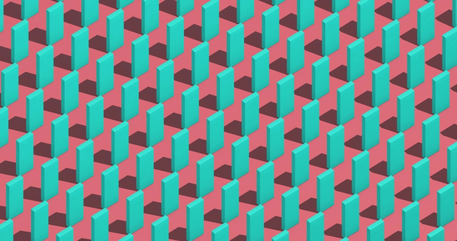 Falling dominoes, abstract 3d render   Shutterstock HD Video #1046618440