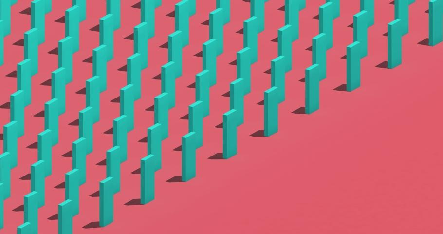 Falling dominoes, abstract 3d render   Shutterstock HD Video #1046618443