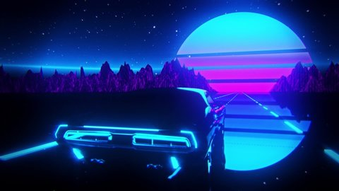 Retro Wave Car Stock Video Footage 4k And Hd Video Clips Shutterstock
