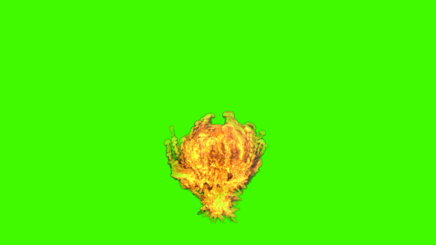 Fire Explosion Alpha channel , Chroma Key , Green screen . Gas explosion - 4K , Ultra HD ...