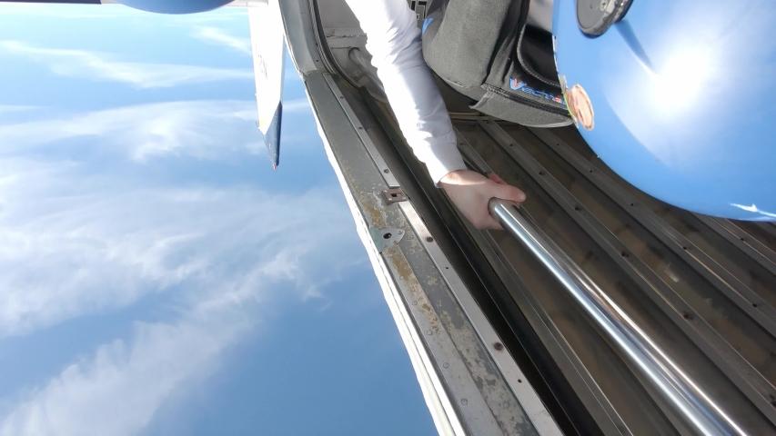 Skydivers over Deland Florida USa