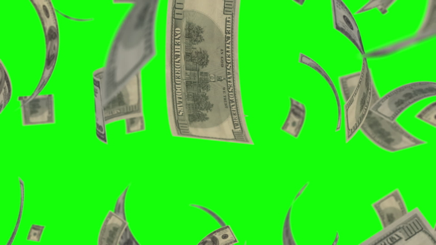 US 100 dollar loop green background animation | Shutterstock HD Video #1046891263