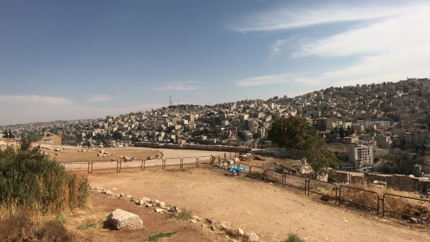 Amman, Jordan - View of the city from the mountain  4K Royalty-Free Stock Footage #1046907847