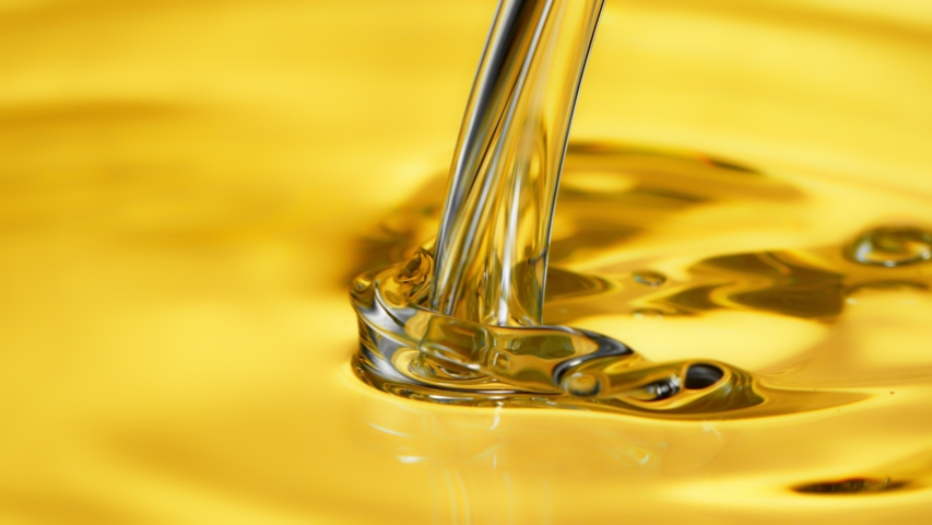 Super Slow Motion Shot of Pouring Oil Liquid at 1000fps. Royalty-Free Stock Footage #1046913952