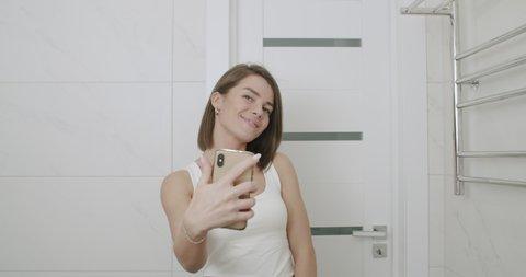 Girl Taking Selfie Mirror Stock Video Footage 4k And Hd Video Clips Shutterstock