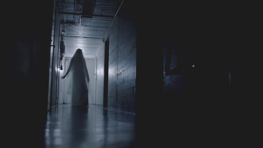 Scary Ghost Flickering Lights in Creepy Hallway | Shutterstock HD Video #1046959402