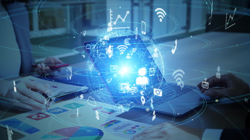 Business and technology concept. Financial technology. Fintech. #1046973535