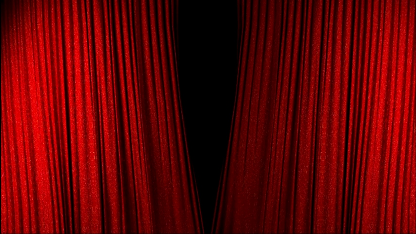 Real Velvet Cloth Stage Cinematic red silk Curtain open footage. Curtain For theater, opera, stage scenes. This opening curtain are shooted on Red Camera - slow motion. Real Cinematic Curtain. | Shutterstock HD Video #1047012058