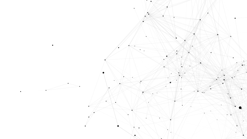 Abstract Digital Network Animation Loop background.Small connected black dots on white background. | Shutterstock HD Video #1047023368